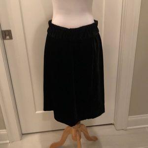 J CREW NWT black velvet skirt